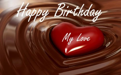 happy birthday to my love red handmade heart hd wallpaper 1