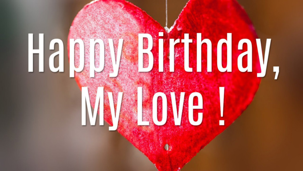 happy birthday to my love red handmade heart hd wallpaper 2