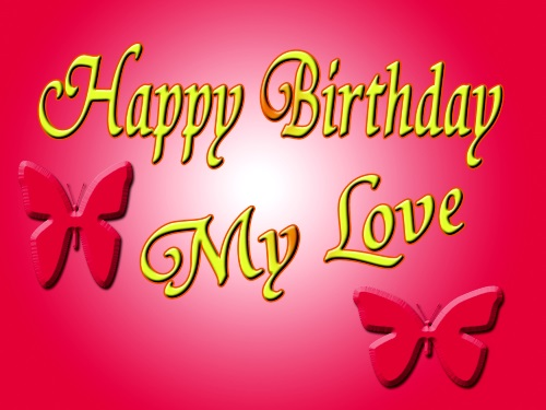 happy birthday to my love red handmade heart hd wallpaper 7