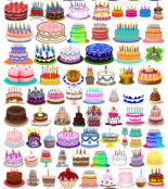 Birthday cakes clip art compilation