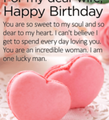 For my dear wife Happy Birthday