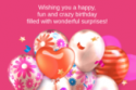 Happy Birthday girl cards with wishing 163x210 125x83