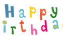 Happy Birthday letters (png transparent, multicolor)