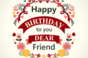 Happy Birthday to dear friend card 210x210 125x83