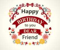 Happy Birthday to dear friend card 210x210 210x174