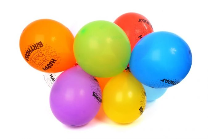 Happy birthday colorful balls 7