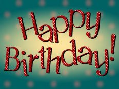 Happy Birthday, for You