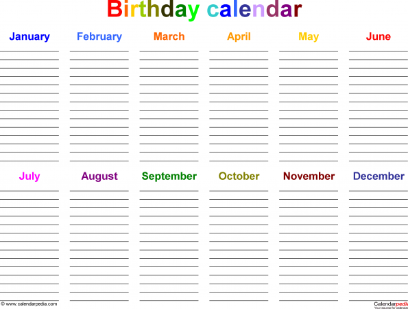 birthday calendars images 3 595x450