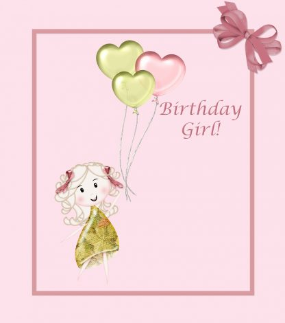 birthday girl illustration cute 416x470