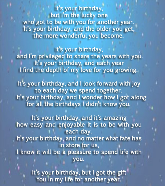 birthday poem for husband wife boyfriend