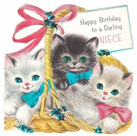 Happy birthday, Cat birthday card 4