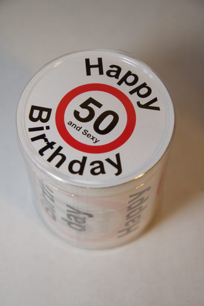 celebration gift drink material label happy funny birthday fifty birthday present 685792 683x1024
