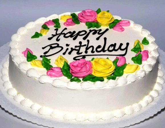 Happy Birthday Cake with Flowers Pics