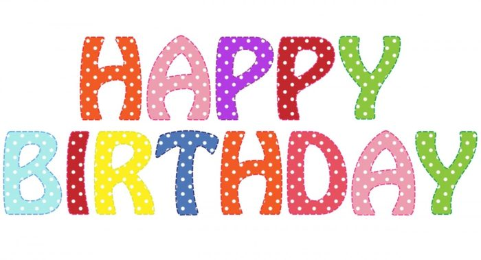 happy birthday text clipart 700x379