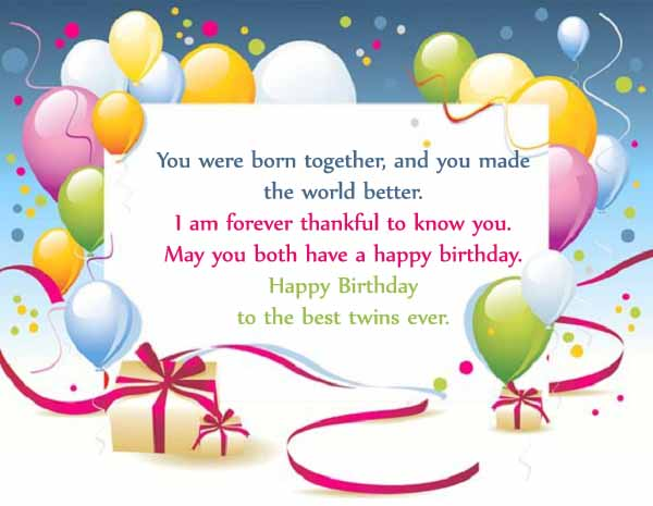 Happy Birthday Twins Wishes & Quotes