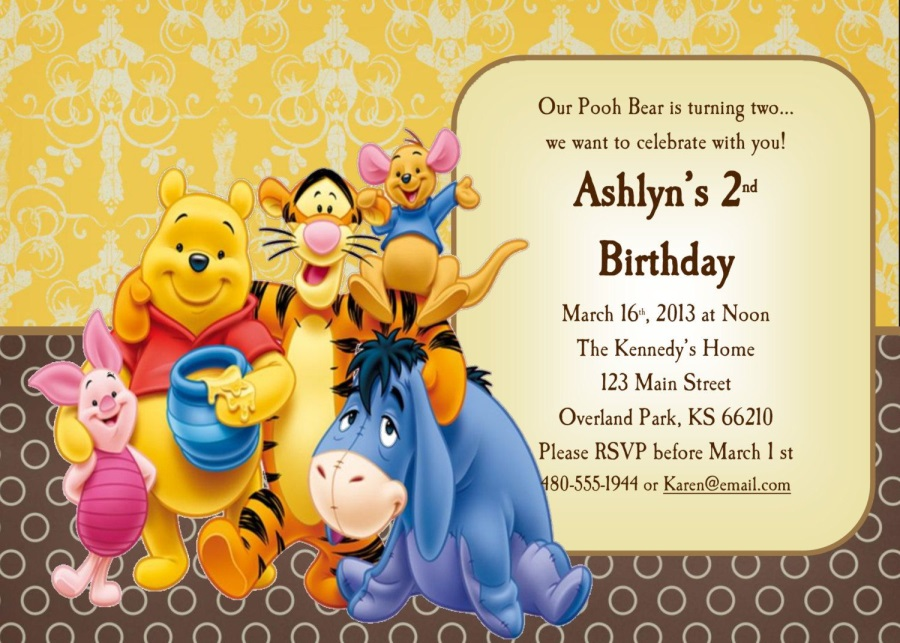 Winnie The Pooh Birthday Card Happy Birthday Pictures Images Pics