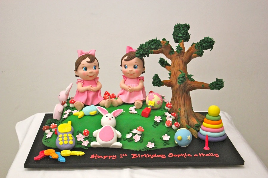 Birthday Cakes For Twin Sisters Cake Image Diyimages