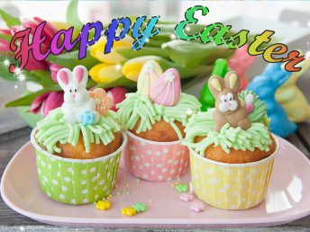 Little cupcake card for easter