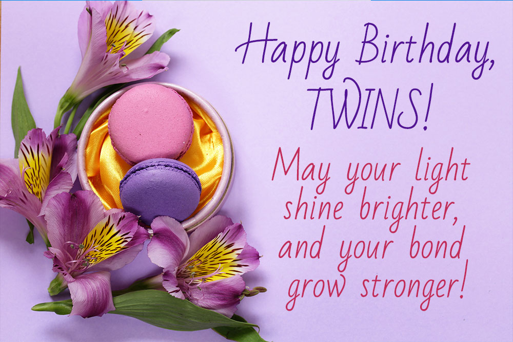 Happy Birthday Twins best image with wishes.